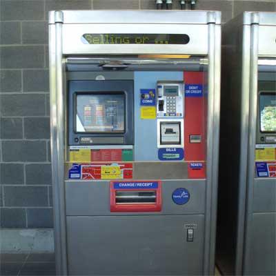 スカイトレインチケット販売機