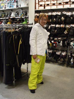 Steve with new ski wear