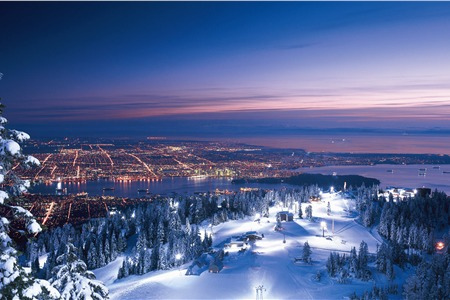 Night view at grouse mountain